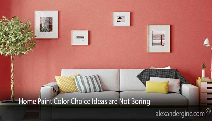 Home Paint Color Choice Ideas are Not Boring