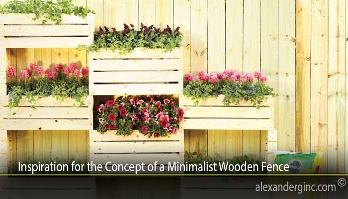 Inspiration for the Concept of a Minimalist Wooden Fence