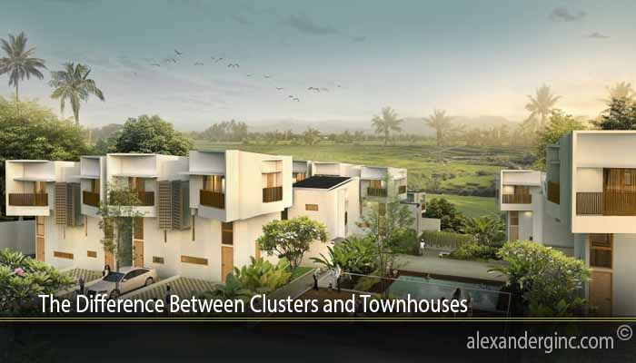 The Difference Between Clusters and Townhouses