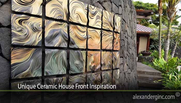 Unique Ceramic House Front Inspiration