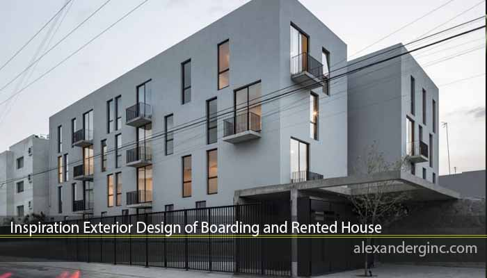 Inspiration Exterior Design of Boarding and Rented House